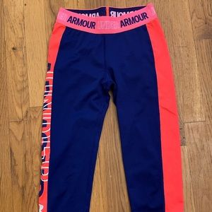 Girls under Armour leggings pants youth medium